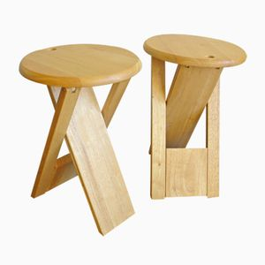 French TS Folding Stools by Roger Tallon, 1970s, Set of 2