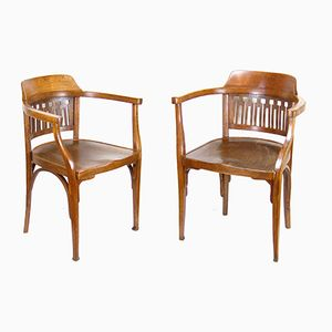 Art Nouveau Nr. 714 Armchairs from J&J Kohn, 1900s, Set of 2