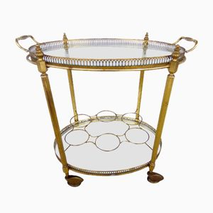 Vintage French Serving Trolley from Maison Baguès, 1960s