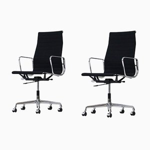 Mid-Century EA 119 Aluminum Office Chairs by Charles & Ray Eames for Vitra, Set of 2