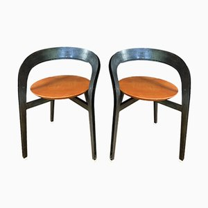 Small Metal Armchairs, 1980s, Set of 2