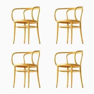 Vintage Bugholz 209 Armlehnstühle von Thonet, 4er Set