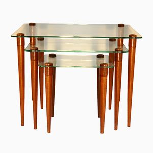 Mid-Century Nesting Tables by Simon Krieks for Meubel-Studio Simon Krieks Amsterdam, Set of 3