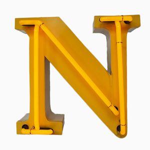 Vintage Neon Letter N