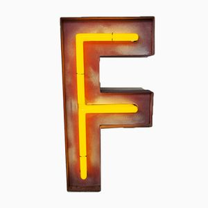 Vintage German Neon F Sign, 1960s