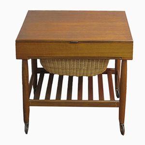 Tavolo da cucito in teak, Scandinavia, anni '60