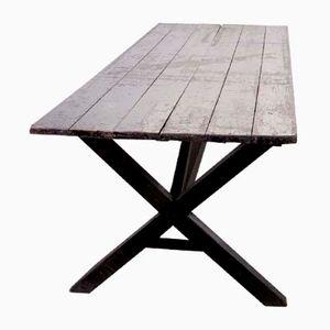 Antiker Tisch mit X- Gestell