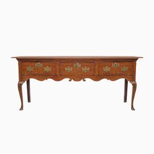 Antiker Walisischer Tisch mit Schubladen
