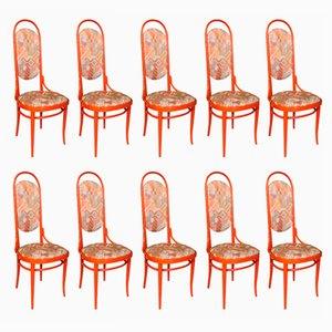 Bugholz No. 17 Stühle von Thonet, 1980er, 10er Set