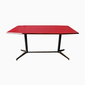 Table Mid-Century Rouge