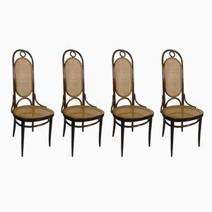 Chaises de Salle à Manger Nr 17 Antique en Bois Courbé par Thonet, Set de 4