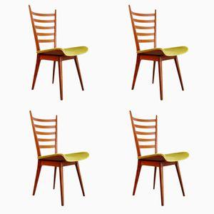 Niederländische Vintage Esszimmerstühle von Cees Braakman für Pastoe, 4er Set