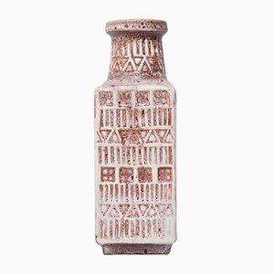 Vintage Molded Rune Pattern Vase by Bodo Mans for Bay Keramik