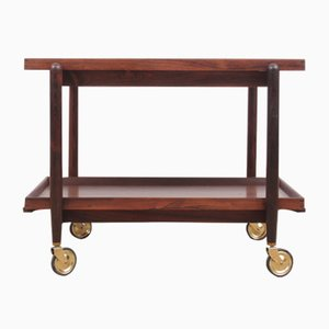 Mid-Century Serving Cart in Rio Rosewood by Poul Hundevad for Hundevad & Co