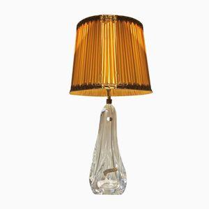 Große Kristall Tischlampe, 1960er