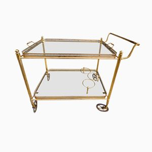 Mid-Century Serving Trolley on Wheels from Maison Baguès