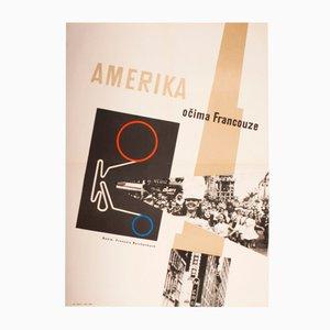 Poster del film America As Seen by a Frenchman di Marianna Holovacká-Henrychová, 1962