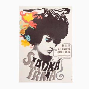 Irma La Douce Movie Poster by Eva Galová-Vodrážková, 1970