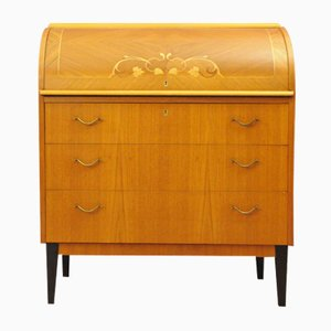 Mid-Century Swedish Roll-Top Secretaire