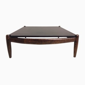 Coffee Table with Slate Top by Carl Straub, 1970s