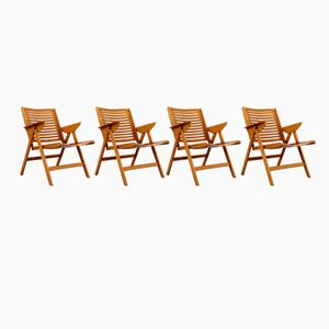 Vintage Rex Folding Chairs by Niko Kralj for Stol, Set of 4