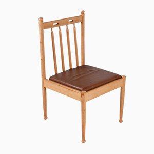 Vintage Stuhl aus Eiche mit Hoher Rückenlehne, 1960er