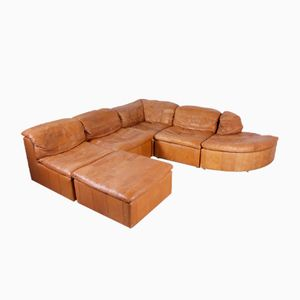 Modular Patchwork Sofa in Leather, 1970s