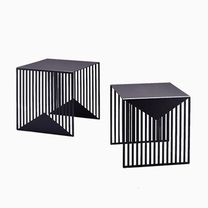 ZICK ZACK Nesting Tables in Black by Olga Bielawska for Swedish Ninja, 2016