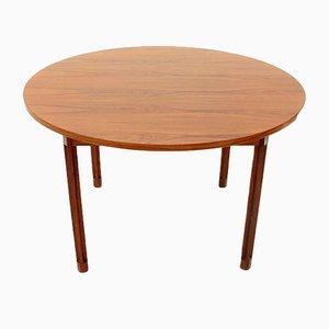 Tavolo rotondo impiallacciata, anni '60