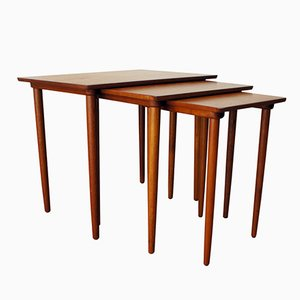 Nesting Tables in Teak by H.W. Klein for Bramin, 1965