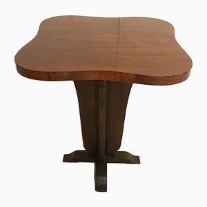 Tavolino Art Déco in legno di noce lucidato