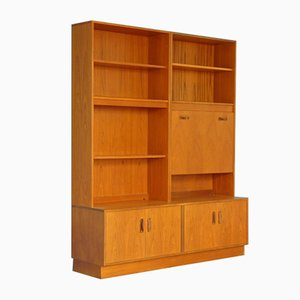Teak Wall Units with Secretaire Cabinet from G-Plan, 1960s, Set of 2