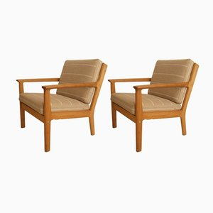 Vintage GE265 Armchairs by Hans J. Wegner for Getama, Set of 2