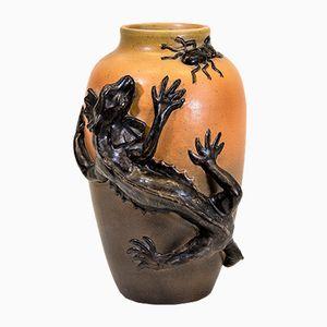 Reptil Vase von Ipsens Enke, 1930er