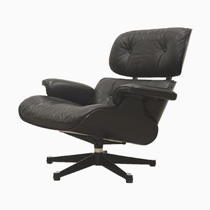 Black Edition Lounge Chair by Ray & Charles Eames for Vitra, 1990s