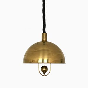 Brass Pendant Lamp by Florian Schulz, 1960s