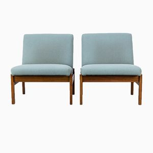 Vintage Low Back Lounge Chairs by Yngve Estrom for Pastoe, Set of 2