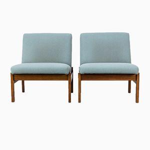 Vintage Sessel mit Niedriger Rückenlehne von Yngve Estrom für Pastoe, 2er Set