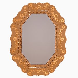Venetian Art Deco Mirror, 1930s