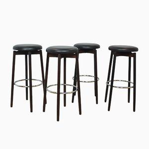 Sgabelli da bar in palissandro di Spottrups, anni '60, set di 4