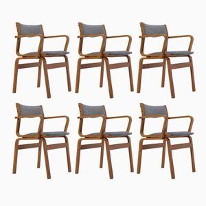 Dänische Vintage Bugholz Stühle aus Teak, 6er Set