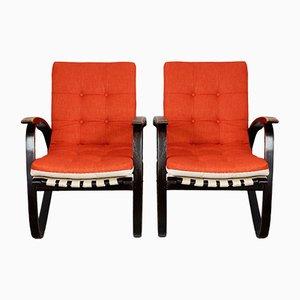Armchairs by Jan Vanek, 1930s, Set of 2