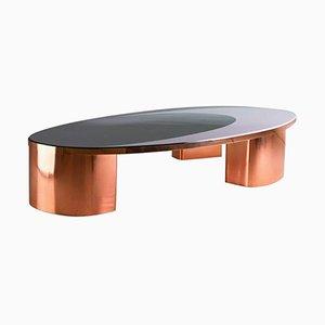 Tavolino da caffè ovale modello 1969 in rame e resina di SORS Privatiselectionem, 2017