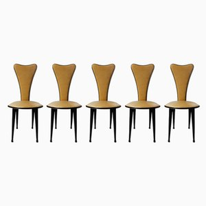 Mid-Century Dining Chairs by Umberto Mascagni, Set of 5