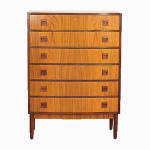 Mid-Century Danish Chest of 6 Drawers in Rosewood from Brouer