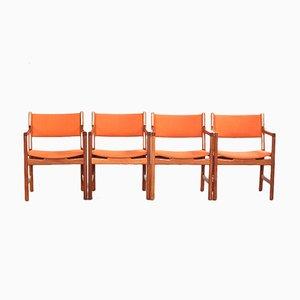 Mid-Century Armlehnstuhl aus Teak von Hans Wegner für Johannes Hansen