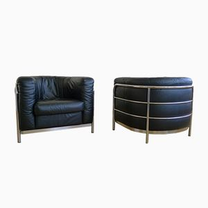 Vintage Onda Club Chairs by De Pas, d'Urbino & Lomazzi for Zanotta, Set of 2