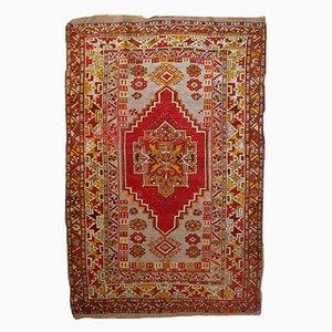 Antiker Handgemachter Türkisch Anatolischer Teppich, 1920er
