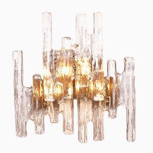 Vintage Eisglas Wandleuchte von J. T. Kalmar