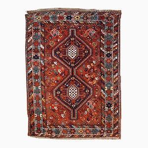 Handgemachter Antiker Persischer Gashkai Teppich, 1920er